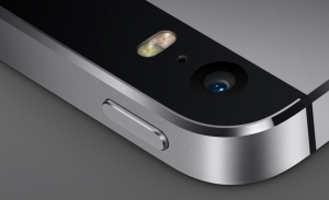 iPhone 5s rear camera lens and twin LED flash