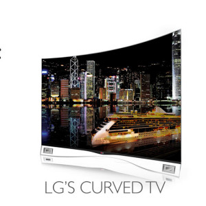 Lg's amazing curved TV