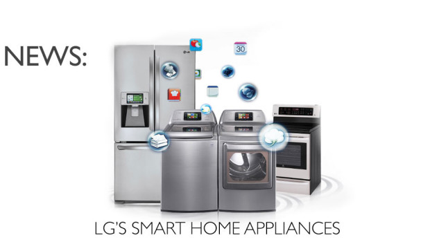 LG Smart ThinQ fridge oven and washer