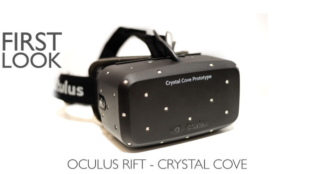 The prototype version called the Oculus Rift Crystal Cove