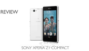Sony Xperia Z1 Compact with water splash