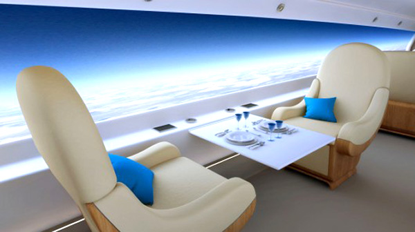 Spike Aerospace S-512 supersonic jet internal screens
