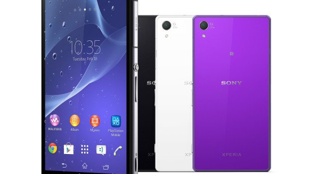 Sony Xperia Z2 different colours