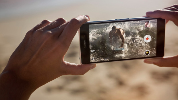 Sony Xperia Z2 on the beach